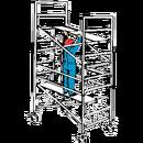 Lättmetallställning bred, höjd 3,15 meter