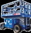 Saxlift 11,9 meter utomhusgående 4-hjulsdriven, dieseldriven