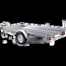 Släpvagn för maskin o biltransport, totalvikt 1500 kg, broms