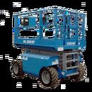 Saxlift, 11,75 m utomhusgående 4-hjulsdriven, dieseldriven