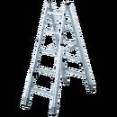 Trapphusstege med ställbara ben, 8+8 steg