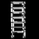Stegram smal, höjd 2,0 meter 7 steg