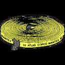 Slang tryckluft, flatrullad 25 mm, 20 meter